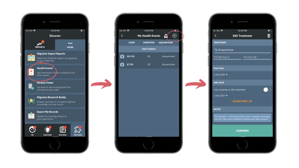 Adding Health Events (iOS)