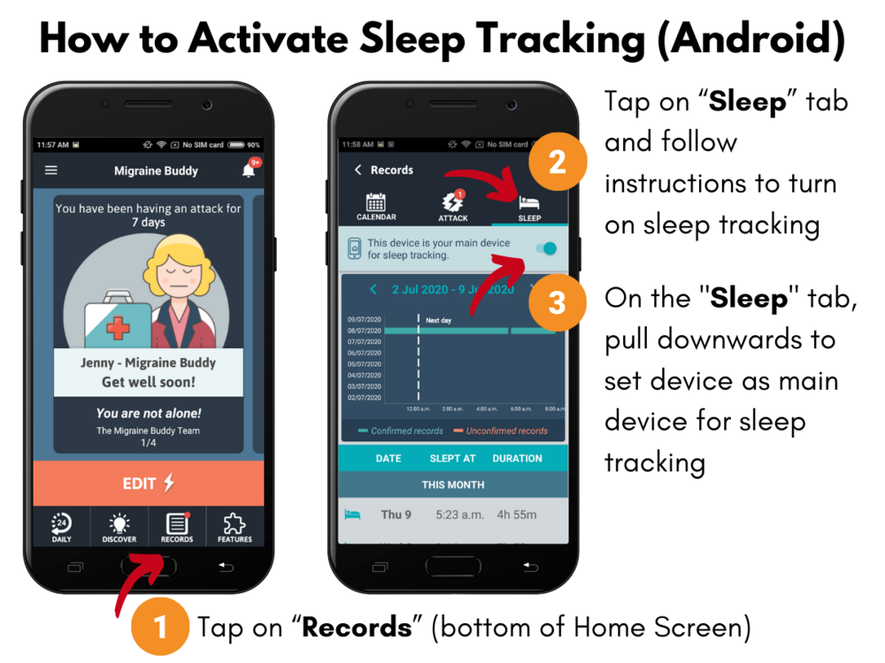 How to activate sleep tracking (Android)