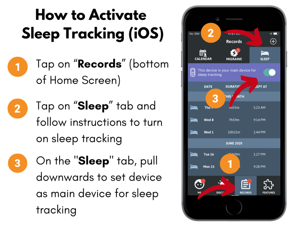 How to activate sleep tracking (iOS)